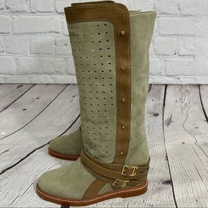 Monika Chiang Suede Tall Riding Boot